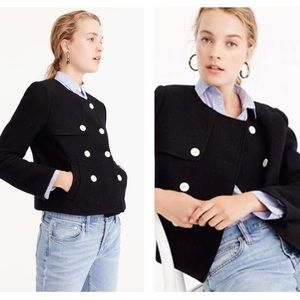 J. Crew S Cropped Jacket in Boiled Wool